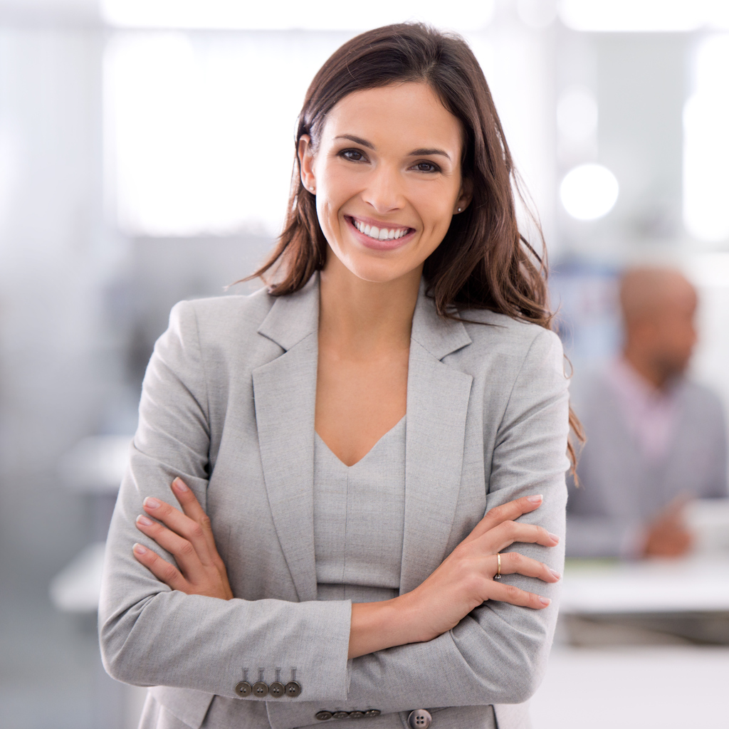 Shot of a young businesswoman standing in an office