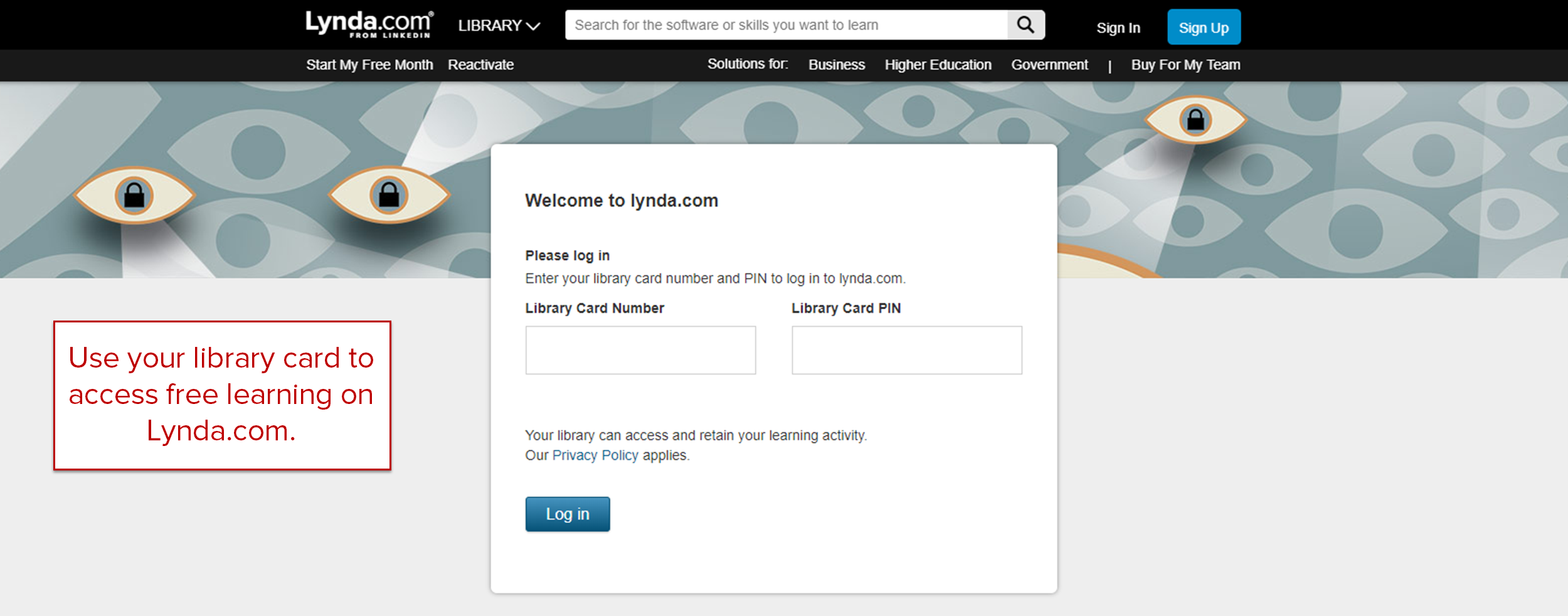 select the image to be directed to lynda.com