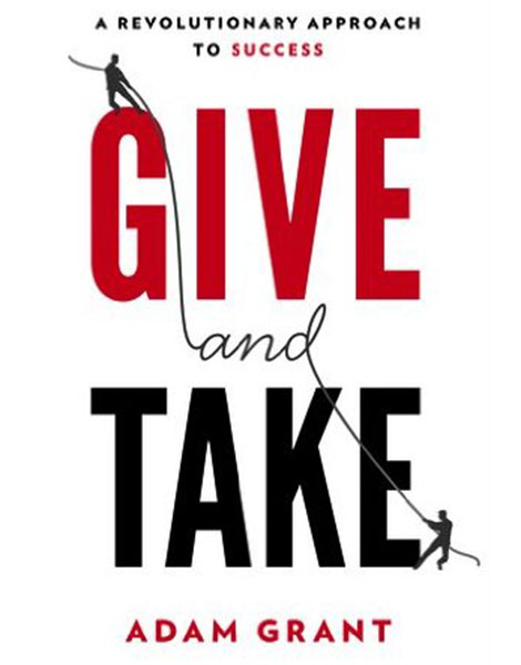 Give and Take by Adam Grant book cover