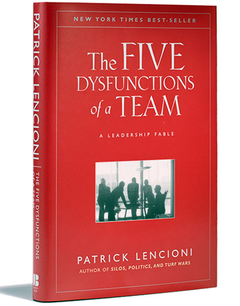 The Five Dysfunctions of a Team by Patrick Lencioni book cover