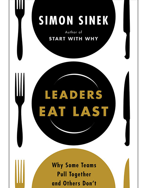 Leaders Eat Last book cover by Simon Sinek
